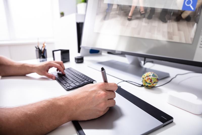 Arbeiten in Workshops mit Grafiktablet