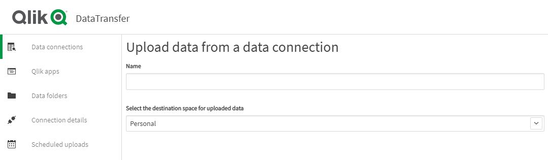Abbildung 3: Upload via Data Connection_Blog: Qlik Data Transfer - bring your data to the Cloud!