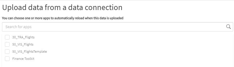 Abbildung 6: Reload von Apps nach erfolgtem Datenupload: Qlik Data Transfer - bring your data to the Cloud!