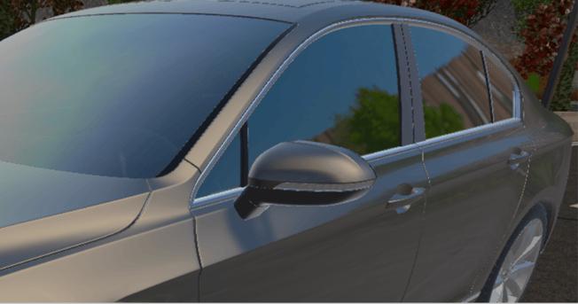 3D Rendering - Detailansicht eine konfigurierten Autos (Zoom In)