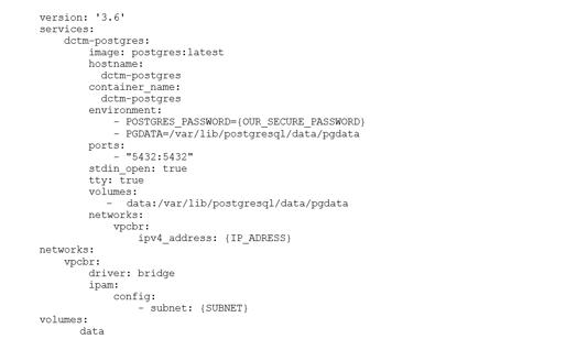 Konfiguration der Datenbank