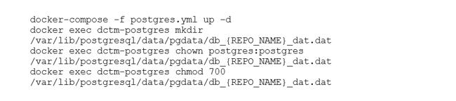 Starten von Container für die Datenbank mit Docker-Compose und anlegen der vom Content-Server benötigten Ordner