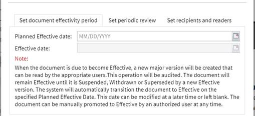 OpenText Documentum for Life Sciences_Gültigkeitsdatum im Dokumentenfreigabe-Prozess